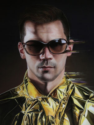 DAVID UESSEM I gold rush I Öl und Acryl auf Leinwand I 180 x 140 cm