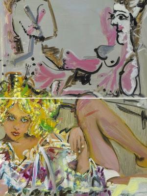 MATTHIAS KÖSTER  I  Dejeuner Picasso Petersburg 3  I  Öl auf Aluminium  I  66 x 50 cm