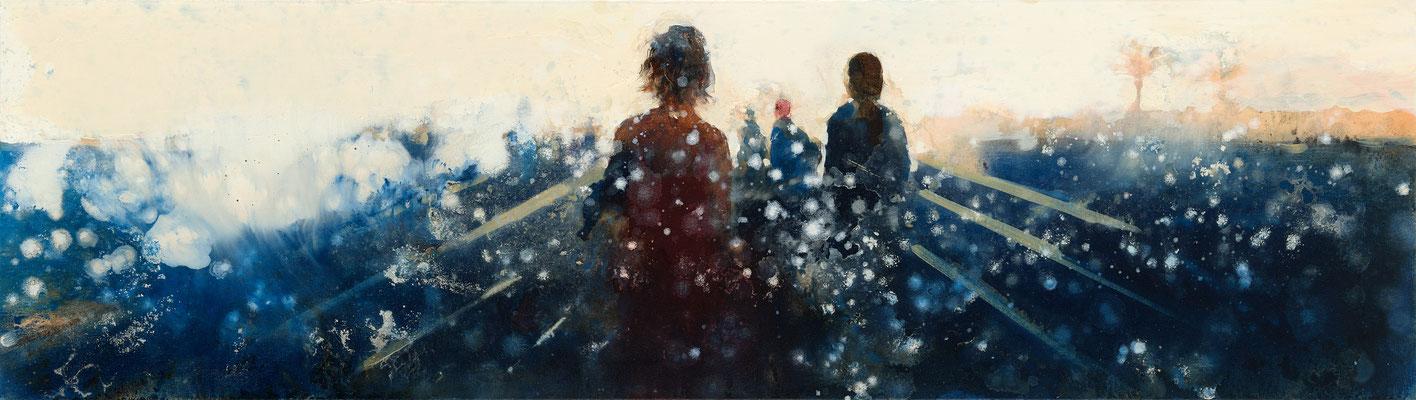 RENATA TUMAROVA  I  A piece of time 03  I  Öl auf Leinwand  I  40 x 140 cm (Repro: Eric Tschernow)