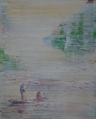 XIANWEI ZHU  I  friends  I  Acryl auf Leinwand  I  41 x 33 cm
