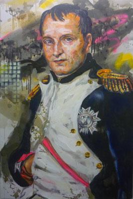 ANDREAS FLÜGEL  I  Napoleon  I  Acryl und Lack auf Leinwand  I  150 x 100 cm