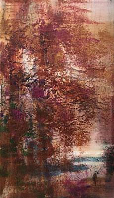 XIANWEI ZHU  I  Herbst  I  Acryl auf Leinwand  I  41 x 24 cm