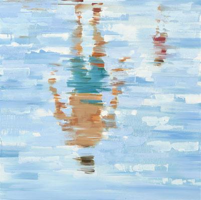 RENATA TUMAROVA  I  This is real!  I  Öl auf Leinwand  I  80 x 80 cm (Repro: Eric Tschernow)