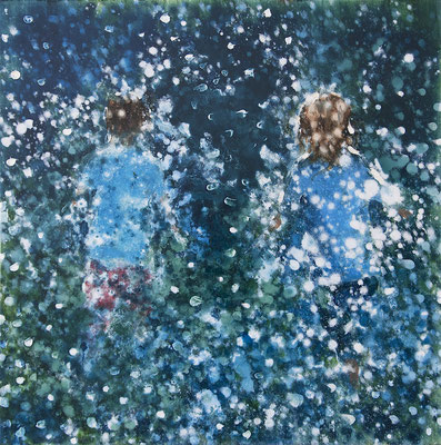 RENATA TUMAROVA  I  It's like magic 03  I  Öl auf Leinwand  I  80 x 80 cm (Repro: Eric Tschernow)