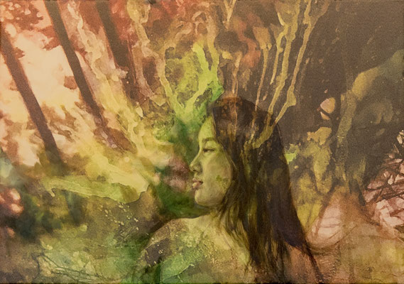 JINY LAN  I 7000 Oaks, Tatarian woman  I Mischtechnik auf Leinwand  I  70 x 100 cm