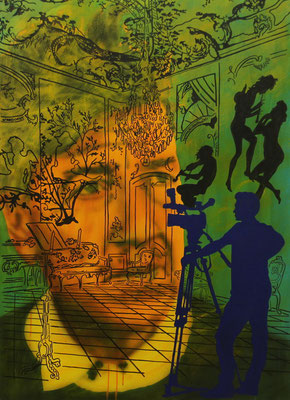 IVO LUCAS  I  David Lynch  I  Öl, Acryl, Pigmente, Lack auf Leinwand  I  110 x 80 cm