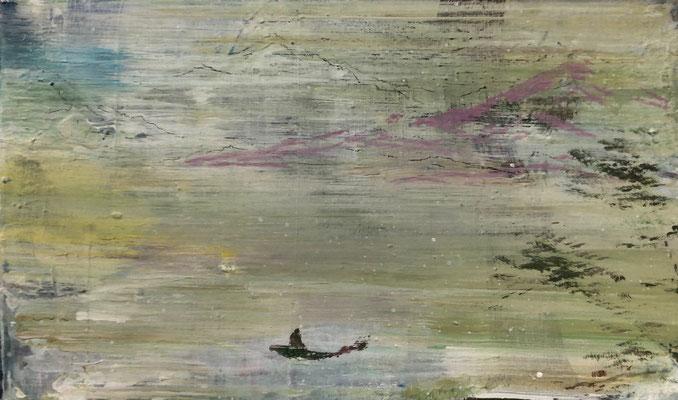 XIANWEI ZHU  I  floating on the river  I  Acryl auf Leinwand  I  30 x 50 cm
