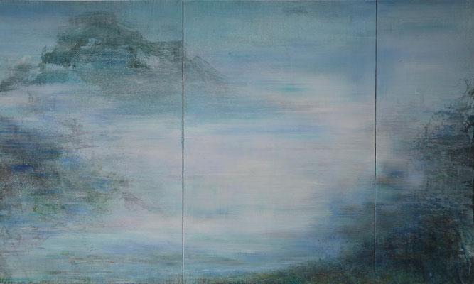 XIANWEI ZHU  I  i wandered lonely as a cloud  I  Acryl auf Leinwand  I  150 x 250 cm (3-teilig)