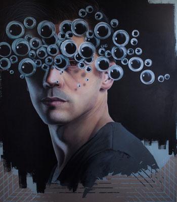 DAVID UESSEM I Eyes wide shut  I Öl und Acryl auf Leinwand I 160 x 140 cm