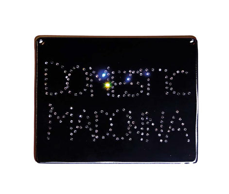 ANGELA SCHILLING  I  Domestic Madonna  I Stahl, falsche Diamanten  I  17 x 23 cm