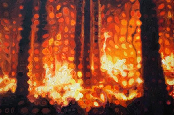 IVO LUCAS  I  Hortus Conclusus II  I  Öl auf Leinwand  I  60 x 90 cm