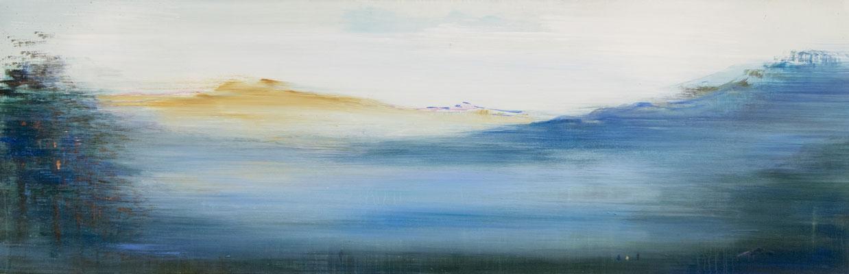 XIANWEI ZHU  I  in silence  I  Acryl auf Leinwand  I  65 x 210 cm
