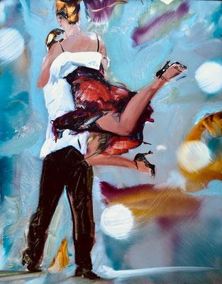 MATTHIAS KÖSTER  I  Tango 2  I  Öl auf Aluminium  I  50 x 40 cm