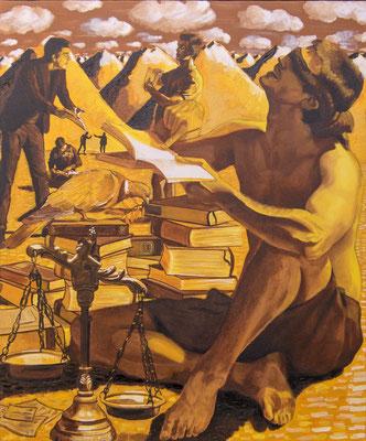 FABIAN PFLEGER I Vier Phasen der Gerechtigkeit I Öl auf Leinwand I 120 x 100 cm
