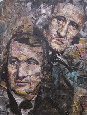 ANDREAS FLÜGEL  I  Gebrüder Grimm I  Acryl und Lack auf Leinwand  I  130 x 100 cm