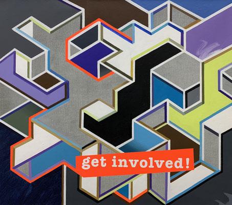 LUCIA DELLEFANT  I  get involved  I  Acryl auf Leinwand  I  66 x 76 cm