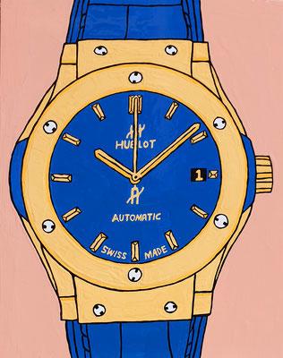 DEREK CURTIS  I  Time is Money  I  Lack auf Aluminium  I  45 x 35 cm
