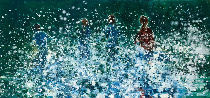RENATA TUMAROVA  I  It's like magic 05 I  Öl auf Leinwand  I  80 x 170 cm