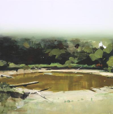 ALPAY EFE  I  fyeo 2 II  I  Öl auf Holz  I  40 x 40 cm
