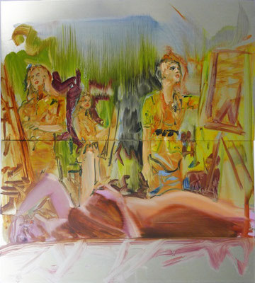 MATTHIAS KÖSTER  I Akademie Girls  I  Öl auf Aluminium  I  45 x 50 cm
