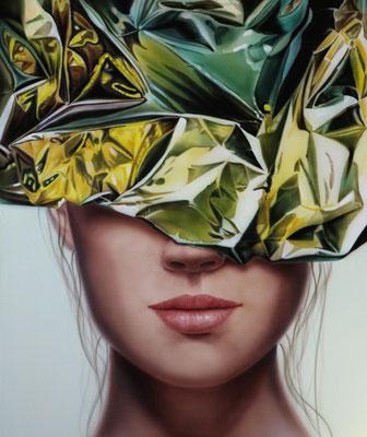 DAVID UESSEM  I  golden girls 1  I  Öl und Acryl auf Holz  I  50 x 40 cm