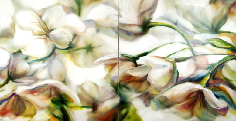 MARTIN HERLER  I  courante  I  Öl auf Leinwand  I  150 x 300 cm