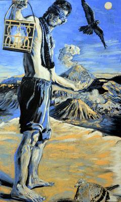 FABIAN PFLEGER I Der Augur I Öl auf leinwand I 115 x 70 cm