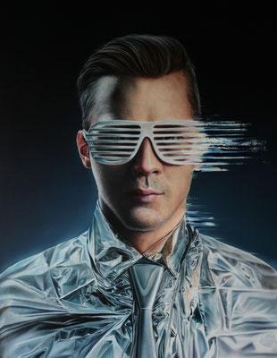 DAVID UESSEM I disco ball I Öl und Acryl auf Leinwand I 180 x 140 cm