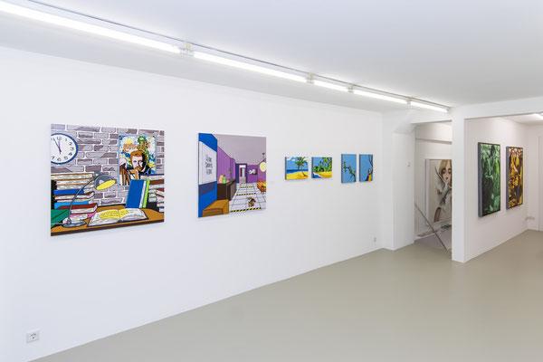 Ausstellungsansicht 5 INDEX 20: Derek Curtis, David Uessem, Fabian Pfleger
