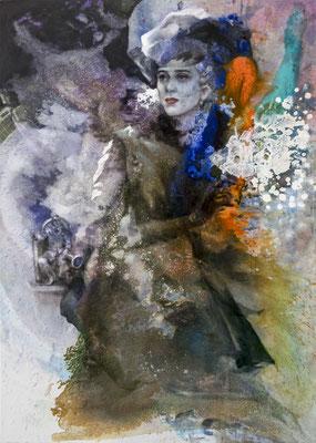 JINY LAN  I  His Story - Katherina  I  Mischtechnik auf Leinwand  I   140 x 100  cm