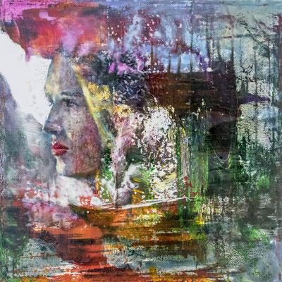 JINY LAN  I  Mischtechnik auf Leinwand  I   40 x 40  cm