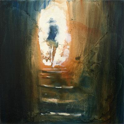 RENATA TUMAROVA  I  The rise 02  I  Öl auf Leinwand  I  60 x 60 cm