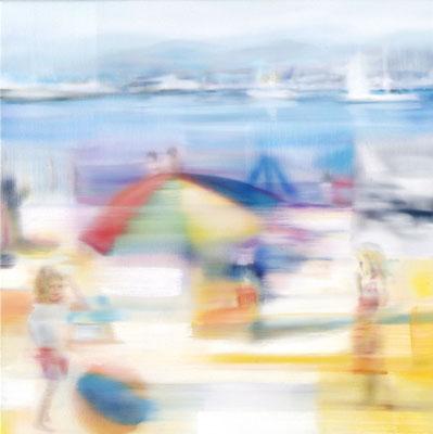 MARTIN HERLER  I  Cote d'Azur  I  Öl auf Leinwand  I  60 x 60 cm