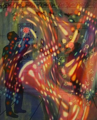 IVO LUCAS  I  Phantastik  I  Öl, Acryl, Pigmente, Lack auf Leinwand  I  160 x 130 cm