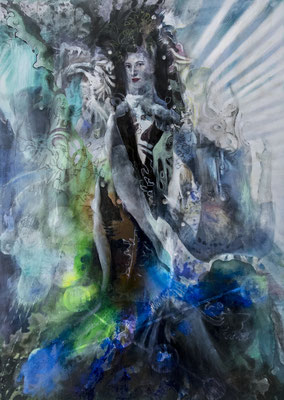 JINY LAN  I  New Silk road  I  Mischtechnik auf Leinwand  I   140 x 100  cm