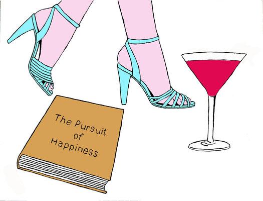 DEREK CURTIS  I  The Pursuit of Happiness  I  Lack auf Aluminium