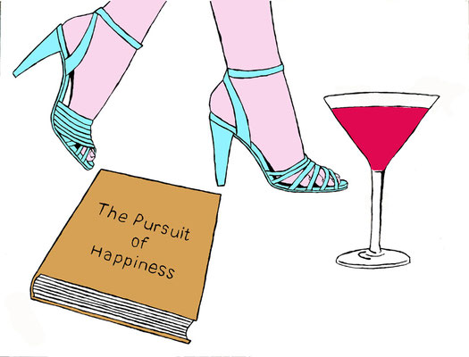 DEREK CURTIS  I  The Pursuit of Happiness  I  Künstler-Originalgrafik  I  Siebdruck in fünf Farben auf Bütten (Ed. 30)  I  50 x 50 cm