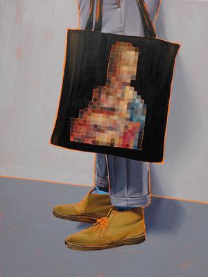 HOLGER KURT JÄGER  I  Arty farty Hermelin  I  Öl auf Leinwand  I  120 x 90 cm