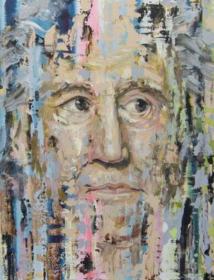 ANDREAS FLÜGEL  I  Goethe I  Acryl und Lack auf Leinwand  I  130 x 100 cm