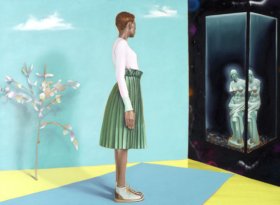 HOLGER KURT JÄGER  I  Venus - Always leave the cagedoor open so the bird can return  I  Öl auf Leinwand  I  125 x 170 cm