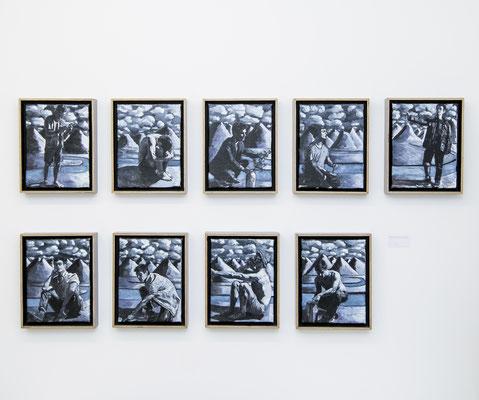 FABIAN PFLEGER I Studie I Öl auf Leinwand I je 25 x 19 cm