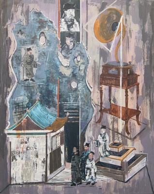 ZENG YANG  I  The broadcastet Statue of Deity  I  Acryl auf Leinwand  I  150 x 120 cm