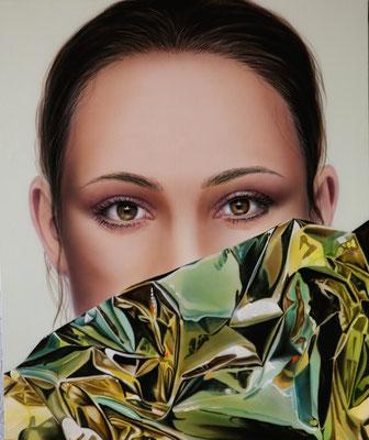 DAVID UESSEM  I  golden girls 2  I  Öl und Acryl auf Holz  I  50 x 40 cm