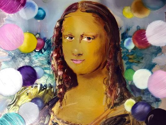 MATTHIAS KÖSTER  I  Mona Lisa  I  Öl auf Aluminium  I  33 x 50 cm