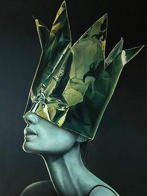 DAVID UESSEM  I  Queen of the night  I  Öl und Acryl auf Leinwand  I  160 x 120 cm