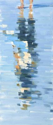 RENATA TUMAROVA  I  Downside up  I  Öl auf Leinwand  I  140 x 60 cm (Repro: Eric Tschernow)