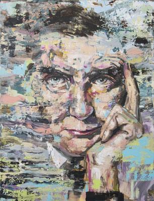 ANDREAS FLÜGEL  I  Gropius I  Acryl und Lack auf Leinwand  I  150 x 115 cm
