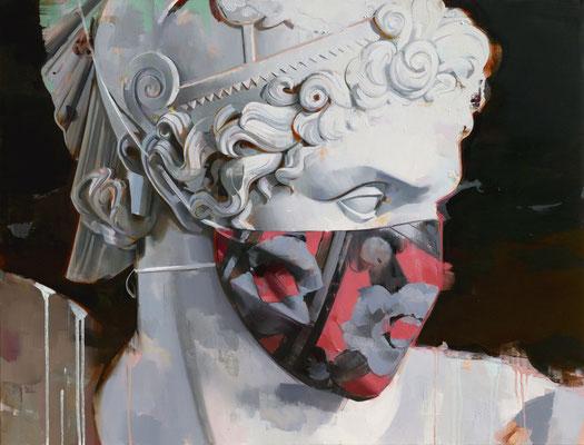 ALPAY EFE  I  2020 Masked Hero I  Öl auf Leinwand  I  100 x 130 cm