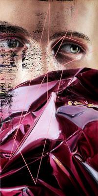 DAVID UESSEM  I  Purple Rain  I  Öl aund Acryl auf Leinwand  I  100 x 50 cm