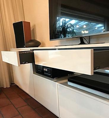 Sideboard 2 mechanischer Touch & Drive Öffnungssystem-Legrabox oriongrau